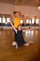 Aislynn Alkire & teacher Jan dancing Paso Doble