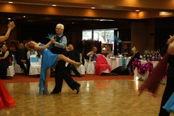 Dan O'Day dancing Waltz with Aislynn at the Louisville Competition 2013