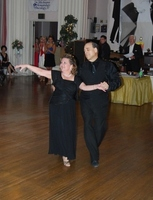 "Teachers Jim & Gina dancing Waltz at the ""Dance for the Cure"""