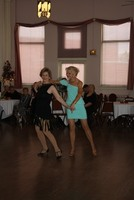Brenda with teacher Jan dancing Samba at the Princess City Showcase 2013
