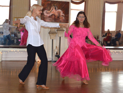 Teacher Jan & Claire dancing Waltz at the Princess City Showcase 2015