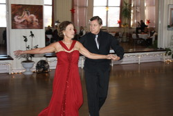 Carroll & Ginny Cecil dancing in the Princess City Showcase