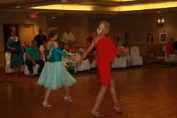 Brenda & teacher Jan dancing Samba at the Louisville Competition 2014