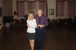 Bill Troth dancing Jitterbug with teacher Jan