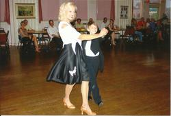 Roman dancing FoxTrot with teacher Miss Jan