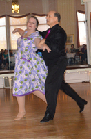 Barbara Whiteman dancing with teacher Jim