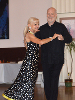 David Taber dancing with teacher Jan
